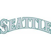 Seattle Mariners Script Logo  Light Iron-on Stickers (Heat Transfers)