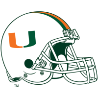 2000-Pres Miami Hurricanes Helmet Logo Light Iron-on Stickers (Heat Transfers)
