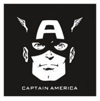 Captain America light-colored apparel iron on stickers 14