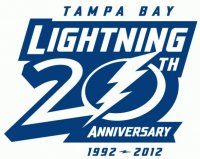 Tampa Bay Lightning Anniversary Logo  Light Iron-on Stickers (Heat Transfers)