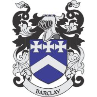 Barclay Coat of Arms light-colored apparel iron on stickers