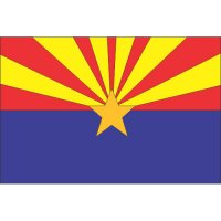 Arizona State Flag Light Iron On Stickers (Heat Transfers)
