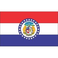 Missouri State Flag Light Iron On Stickers (Heat Transfers)