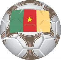 Cameroon Soccer Light Iron-on Stickers (Heat Transfers)