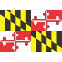 Maryland State Flag Light Iron On Stickers (Heat Transfers)