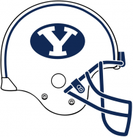 Brigham Young Cougars 2005-Pres Helmet Logo Light Iron-on Stickers (Heat Transfers)