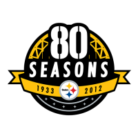 Pittsburgh Steelers 2012 Anniversary Logo Light Iron-on Stickers (Heat Transfers)