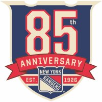 New York Rangers Anniversary Logo  Light Iron-on Stickers (Heat Transfers) version 2