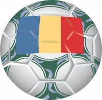 Romania Soccer Light Iron-on Stickers (Heat Transfers)