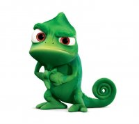 Rapunzel best friend Pascal the chameleon