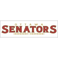 Ottawa Senators Script Logo  Light Iron-on Stickers (Heat Transfers) version 2