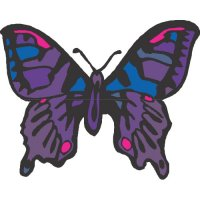 Butterfly Light Iron On Stickers (Heat Transfers) version 22