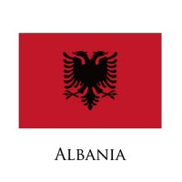 ALBANIA Flags light iron ons