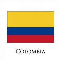 COLOMBIA Flags light iron ons