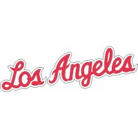 Los Angeles Clippers Script Logo  Light Iron-on Stickers (Heat Transfers) version 2