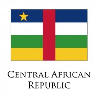 CENTRAL AFRICAN REPUBLIC Flags light iron ons