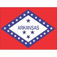 Arkansas State Flag Light Iron On Stickers (Heat Transfers)