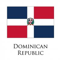 DOMINICAN REPUBLIC Flags light iron ons