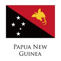 PAPUA NEW GUINEA Flags light iron ons