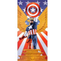 Captain America light-colored apparel iron on stickers 17