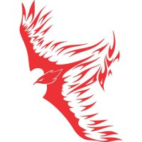 Eagle Flames light-colored apparel iron on stickers version 16