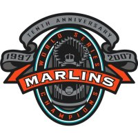 Florida Marlins Anniversary Logo  Light Iron-on Stickers (Heat Transfers)
