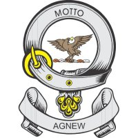 Agnew Clan Badge Light Iron On Stickers (Heat Transfers)