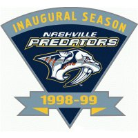 Nashville Predators Anniversary Logo  Light Iron-on Stickers (Heat Transfers)