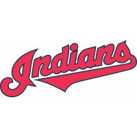 Cleveland Indians Script Logo  Light Iron-on Stickers (Heat Transfers) version 2
