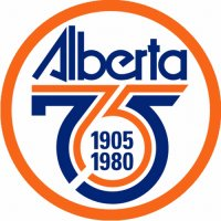 Edmonton Oilers Anniversary Logo  Light Iron-on Stickers (Heat Transfers)