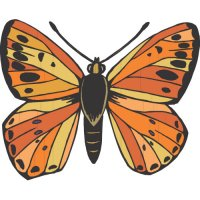 Butterfly Light Iron On Stickers (Heat Transfers) version 16