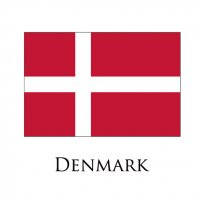 DENMARK Flags light iron ons