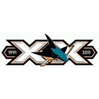 San Jose Sharks Anniversary Logo  Light Iron-on Stickers (Heat Transfers) version 1