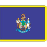 Maine State Flag Light Iron On Stickers (Heat Transfers)