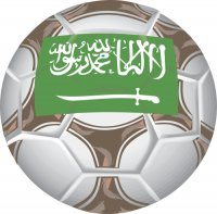 Saudi Arabia Soccer Light Iron-on Stickers (Heat Transfers)