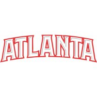 Atlanta Hawks Script Logo  Light Iron-on Stickers (Heat Transfers) version 2