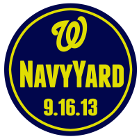 Washington Nationals 2013 Memorial Logo Light Iron-on Stickers (Heat Transfers)