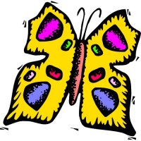 Butterfly Light Iron On Stickers (Heat Transfers) version 26