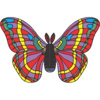 Butterfly Light Iron On Stickers (Heat Transfers) version 24