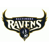 Baltimore Ravens Script Logo  Light Iron-on Stickers (Heat Transfers) version 2