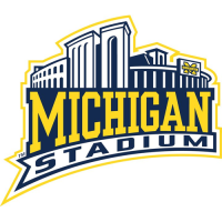 0-Pres Michigan Wolverines Stadium Logo Light Iron-on Stickers (Heat Transfers)