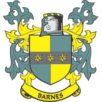Barnes Coat of Arms light-colored apparel iron on stickers