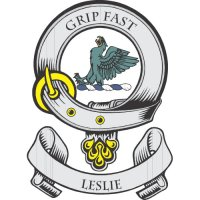 Leslie Clan Badge Light Iron On Stickers (Heat Transfers)