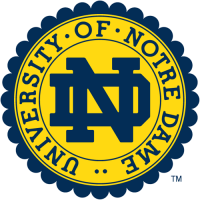 0-Pres Notre Dame Fighting Irish Alternate Logo Light Iron-on Stickers (Heat Transfers)