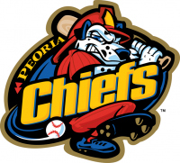 Peoria Chiefs primary logo(2013-pres)Light Iron-on Stickers (Heat Transfers) 01