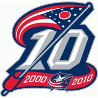 Columbus Blue Jackets Anniversary Logo  Light Iron-on Stickers (Heat Transfers)
