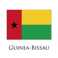 GUINEA BISSAU Flags light iron ons