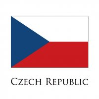 CZECH REPUBLIC Flags light iron ons