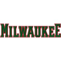 Milwaukee Bucks Script Logo  Light Iron-on Stickers (Heat Transfers) version 1