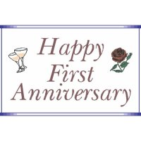 First Anniversary Light Iron On Stickers (Heat Transfers)